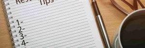 resume writing tips 1
