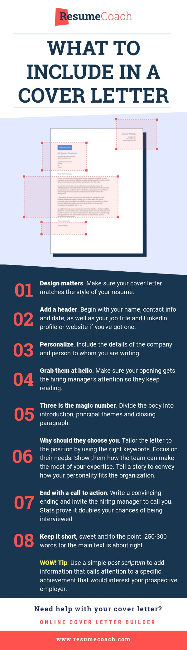 what to include winning cover letter