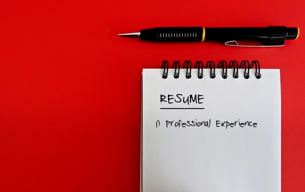 write first resume